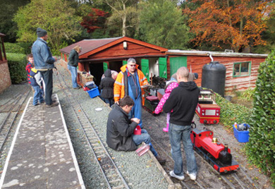 The shed at lunch time Oct 27th 2012