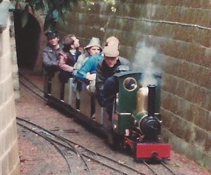 Narrow Gauge Loco leaves the tunnel